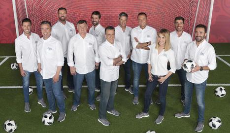 L'equip de Mediaset per al Mundial.