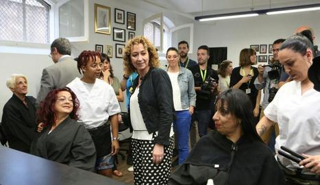 La consellera Ester Capella, ahir a la presó de Wad-Ras.