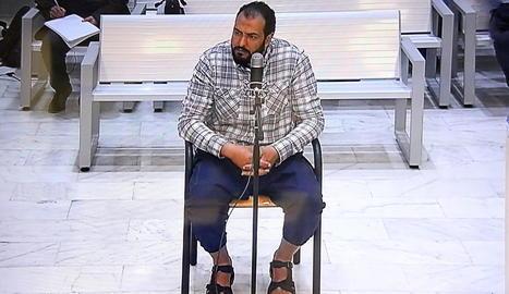 Abdeljalil Ait El Kaid, a la sala de vistes de l'Audiència Nacional.