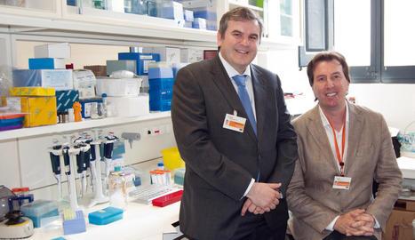 Els investigadors Joaquim Bosch i Javier Menéndez.