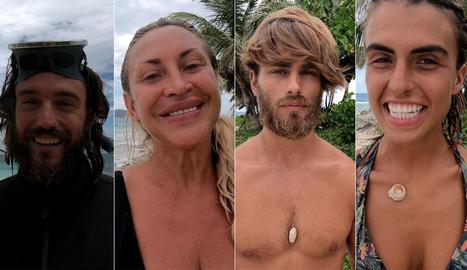 Els quatre finalistes d'aquesta edició: Logan, Raquel Mosquera, Sergio Carvajal i Sofía Suescun.