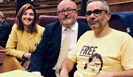 Els nous diputats d'ERC Joan Maragall i Carolina Telechea.