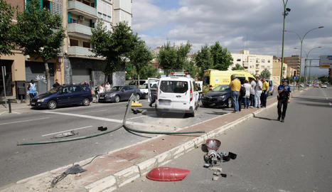 Espectacular choque en Lleida