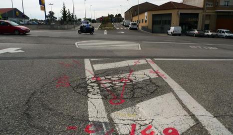 La rotonda de la zona de la Cissa, al centre de Solsona.