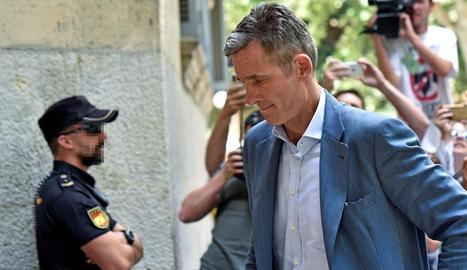 Iñaki Urdangarin arriba a l'Audiència en una imatge d'arxiu.