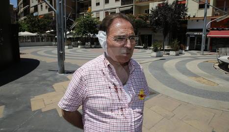 Josep Aldabó, l'home agredit a Lleida per portar un llaç groc.