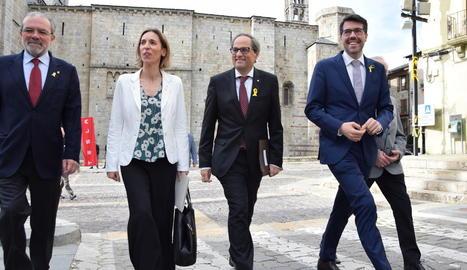Joan Reñé i Albert Batalla van rebre el president Quim Torra i la consellera Àngels Chacón.