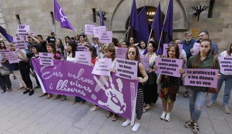 Concentració contra la violència masclista a Lleida.