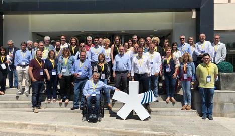 Representants del PDeCAT de Lleida a la convenció.