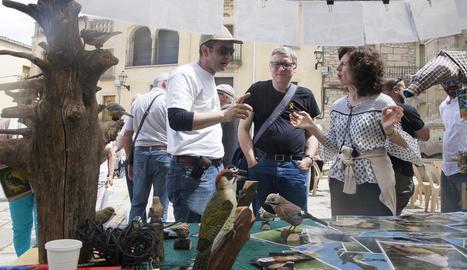 Eduard Viver donant a conèixer les aus del territori i els observatoris habilitats recentment.