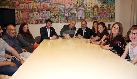 © Bargalló dóna suport als mestres de la Seu d'Urgell