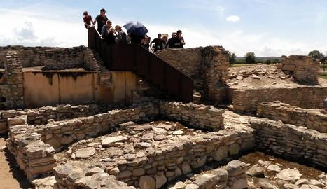 Jornada de portes obertes i visites guiades a la fortalesa ibèrica dels Vilars el passat 2 de juny.