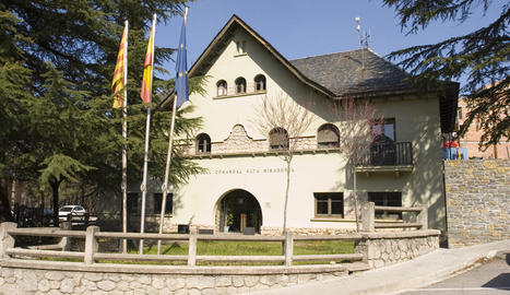 Imatge d'arxiu de la seu del consell de l'Alta Ribagorça.