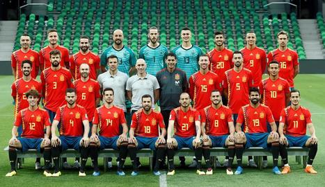 Els jugadors belgues celebren el gol de Romelu Lukaku, el segon de l'equip i el segon al compte personal del jugador del Manchester United.