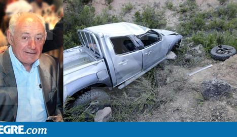 El totterreny 'pick-up' que conduïa la víctima va quedar en aquest estat després de l'accident.