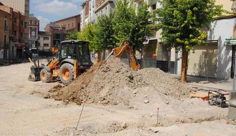 Les obres a la plaça Manuel Bertrand.