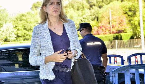 Cristina de Borbó, durant el judici del 'cas Nóos' a Palma.