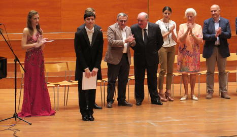 Nikolai Kuznetsov, ahir a l'Auditori al rebre el primer premi.