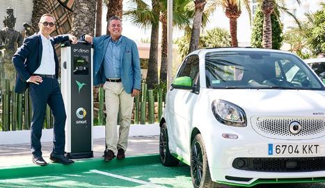ón cinc carregadors de 22 kW en què carregar del 10 al 80% la bateria de l'Smart EQ requereix menys de 40 minuts