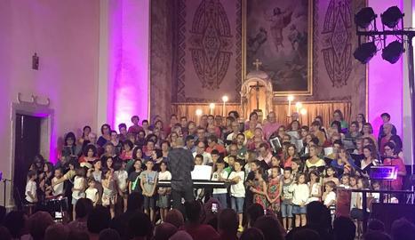 Juneda estrena un nou conjunt coral, amb un centenar de cantaires