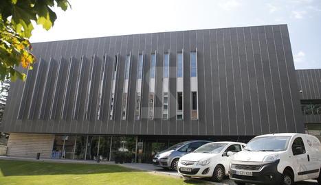 La comissaria de la Guàrdia Urbana de Lleida.