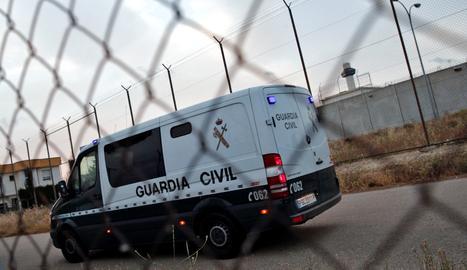 Un furgó de la Guàrdia Civil.