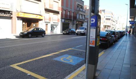 La zona de pagament del carrer Ferrer i Busquets.