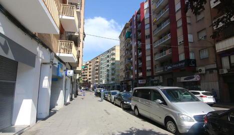 L'agressió es va produir en aquesta zona del carrer Lluís Companys de Lleida.