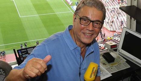 Puyal en un partit al Camp Nou.