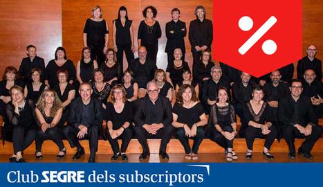 Els components del Cor de Cambra de l'Auditori Enric Granados.