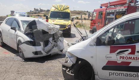 Accident a l'N-II en què ha mort la conductora del turisme