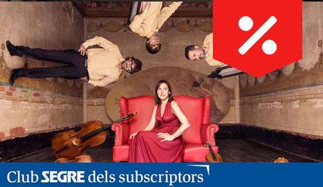 Els integrants del grup de corda, Quartet Teixidor.