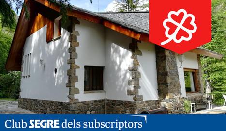 Exterior del refugi de muntanya Tacita, a la Vall Fosca.