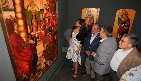 La consellera Borràs visita la remodelació de les sales de renaixement i barroc del Museu de Lleida