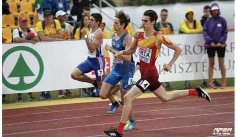 Bernat Erta, durant la final dels 400 metres.