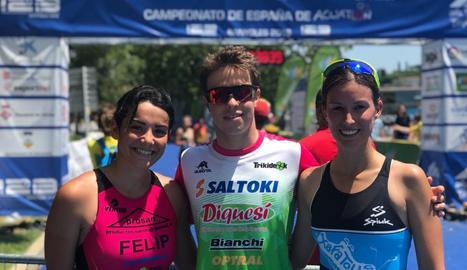 Doble victòria de Roger Mirabet a l'Estatal de triatló