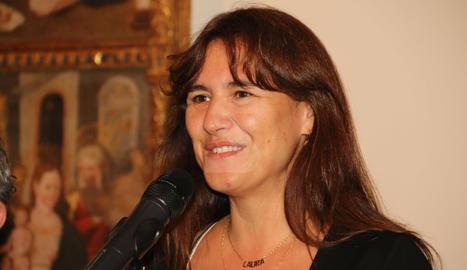 Visita de la consellera catalana de Cultura, Laura Borràs, al Museu de Lleida