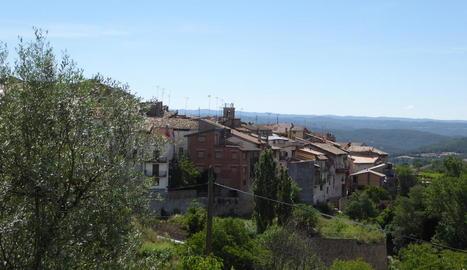 Vista de la localitat de Peramola.