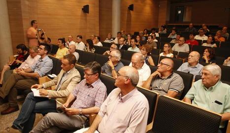 Imatge de la reunió d'ahir amb empresaris del Neoparc.