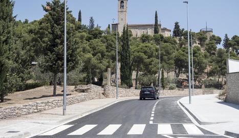 Tàrrega va obrir ahir al trànsit el carrer La Pau, la circumval·lació que passa per la falda de Sant Eloi.