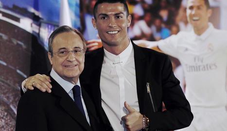 Cristiano i Florentino Pérez, en imatge d'arxiu.