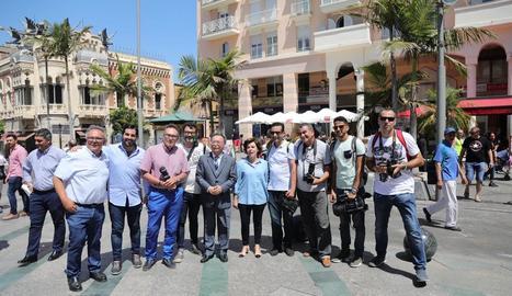 Soraya Sáenz de Santamaría, en una trobada amb els militants del partit a Ceuta.