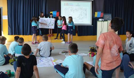 Presentació de la iniciativa, al juny, a l'Escola La Creu.