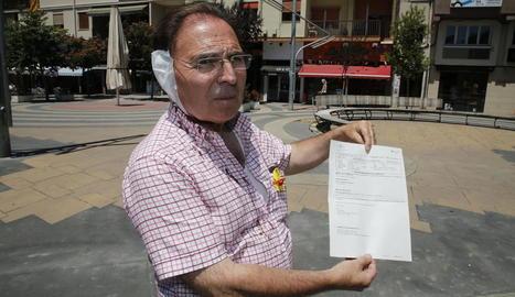 Josep Aldabó va rebre vuit punts de sutura a l'orella.