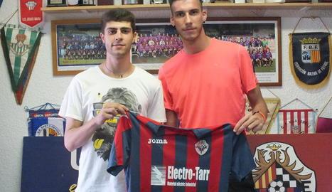 Dídac Castelló, a l'esquerra, i Sergi Sans.