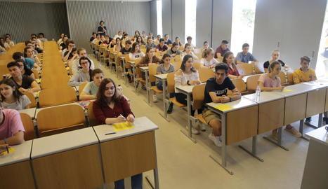 Els alumnes es van examinar de la selectivitat el mes de juny passat.