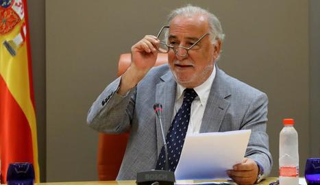 El director general de Trànsit, Pere Navarro, ahir.
