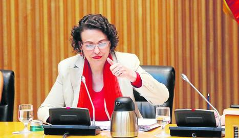 La ministra de Treball, ahir al Pacte de Toledo.