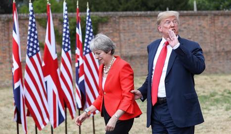 La primera ministra britànica, Theresa May, i el president dels EUA, Donald J. Trump.