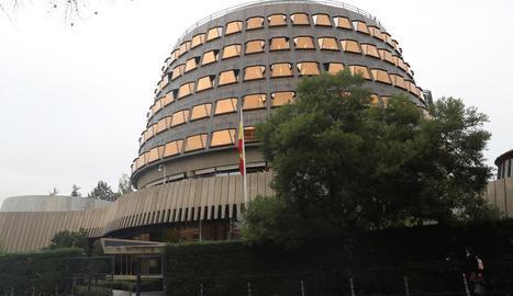 Imatge de la seu del Tribunal Constitucional a Madrid.